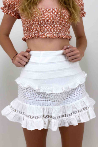 Indikah_Lace_Tier_Skirt_White