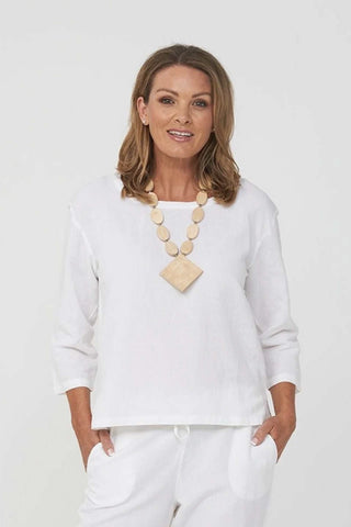 Kaja_Clothing_Sue_Linen_Top_White