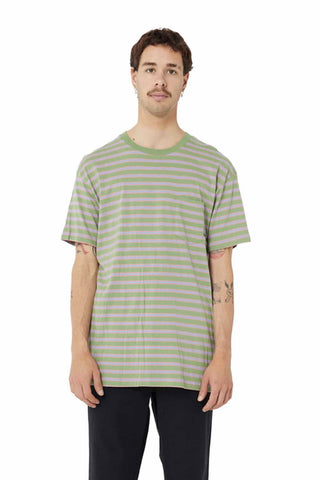 Misfit Yell_Swearer_SS_Tee_Stripe_Grass_Green