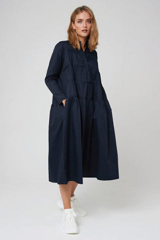 Morrison Designer Lydia Dress Navy Australian Fashion