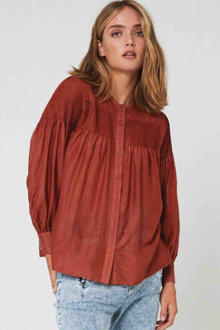 Morrison_Priya_Silk_Cotton_Shirt_Rust
