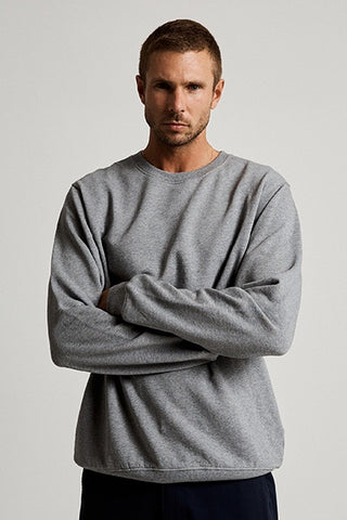 Mr_Simple_Crew_Neck_Fleece_Grey_Marle_Jumper_Winter