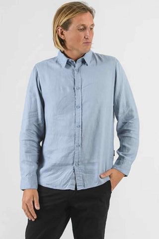 Mr_Simple_Linen_Long_Sleeve_100%_Linen_Shirt_Blue_Chambray