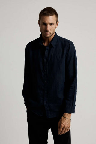 Mr_Simple_100%_Linen_Long_Sleeve_Shirt_Navy