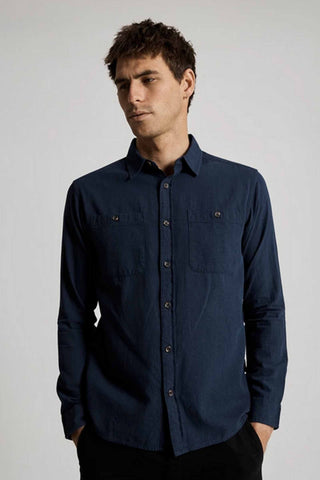 Mr_Simple_Soft_Cotton_Long_Sleeve_Shirt_Navy_Fair_Trade