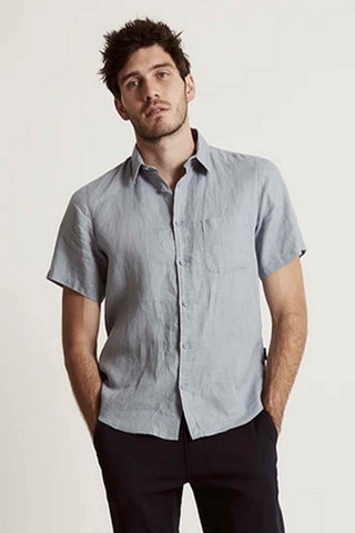 Mr_Simple_Linen_Short_Sleeve_Shirt_Blue_Chambray
