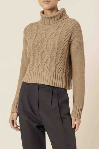 Nude_Lucy_Dorian_Cable_Knit_Mocha_Brown