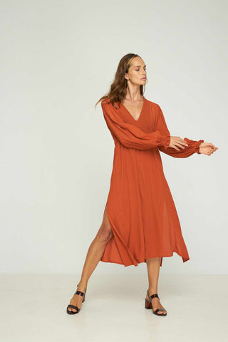 Rue_Stiic_Isla_Split_Dress_Apricot