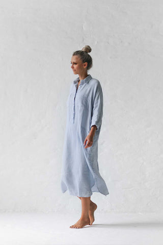 Seaside_Tones_Linen_Shirt_Dress_Blue