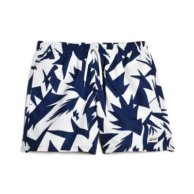 Blue Abstract Swim Trunk