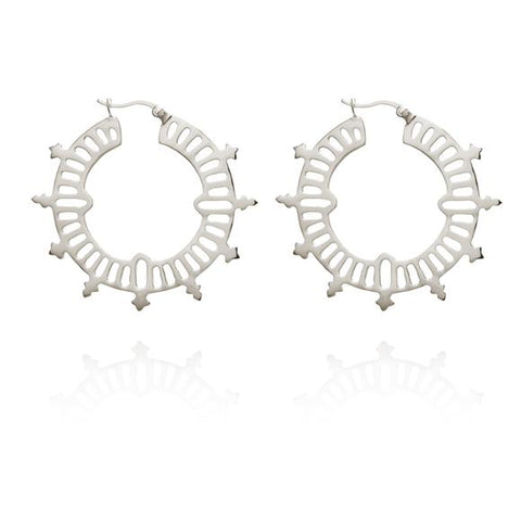 Krista Hoop Earrings -  Silver