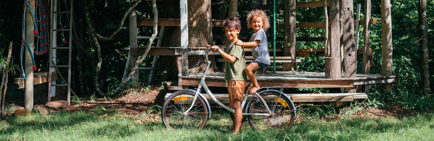 Boys on a bike, Vintage Collection by Children of the Tribe