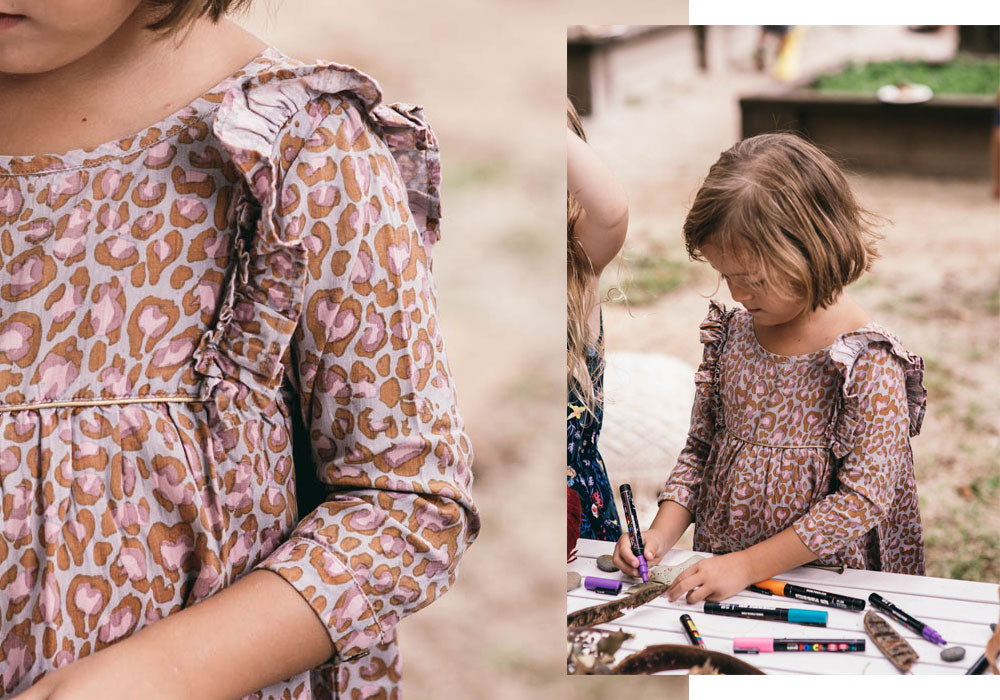 Art and Craft in the Little Seeker Dress