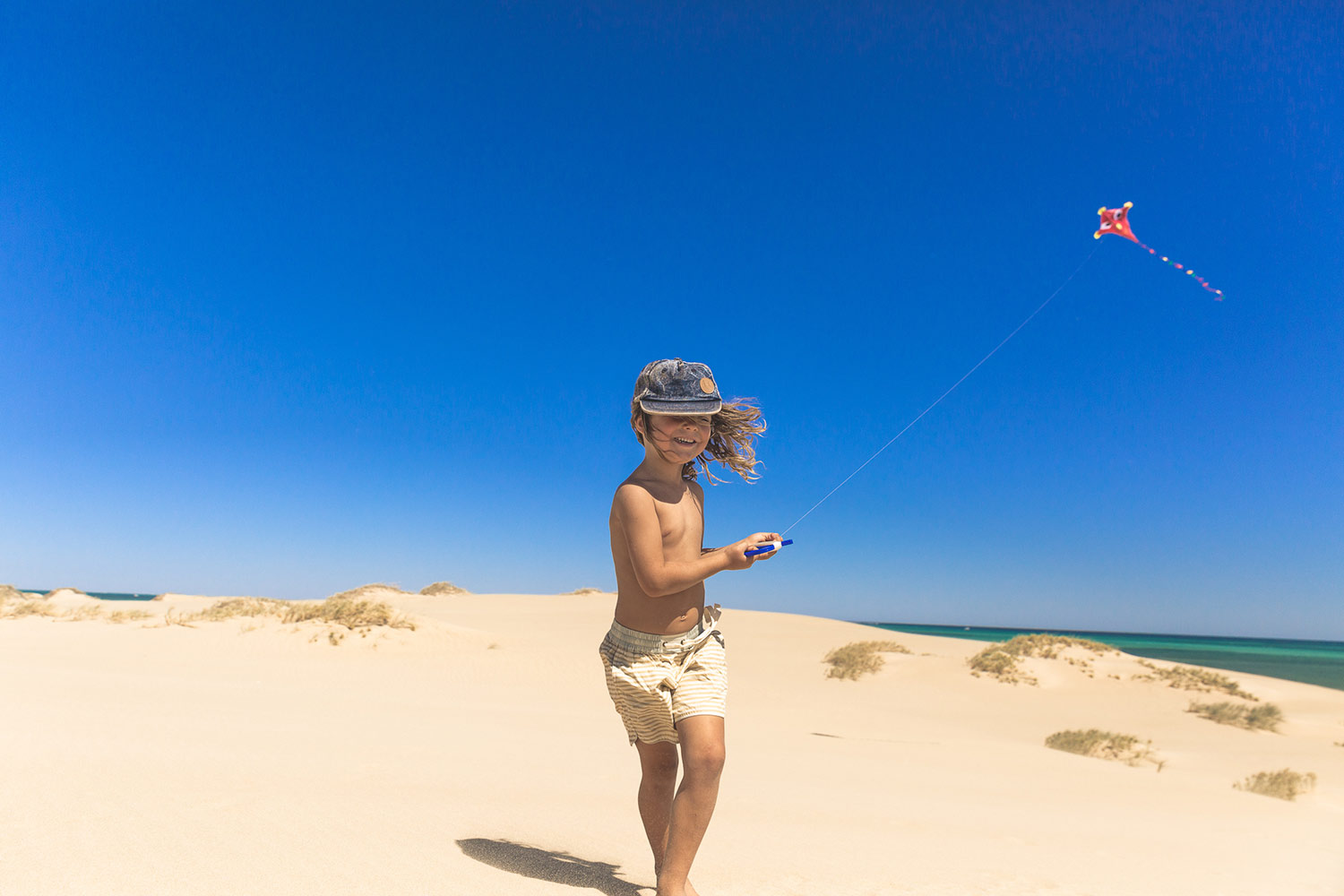 Kite flying at Exmouth in The Cape Range National Park