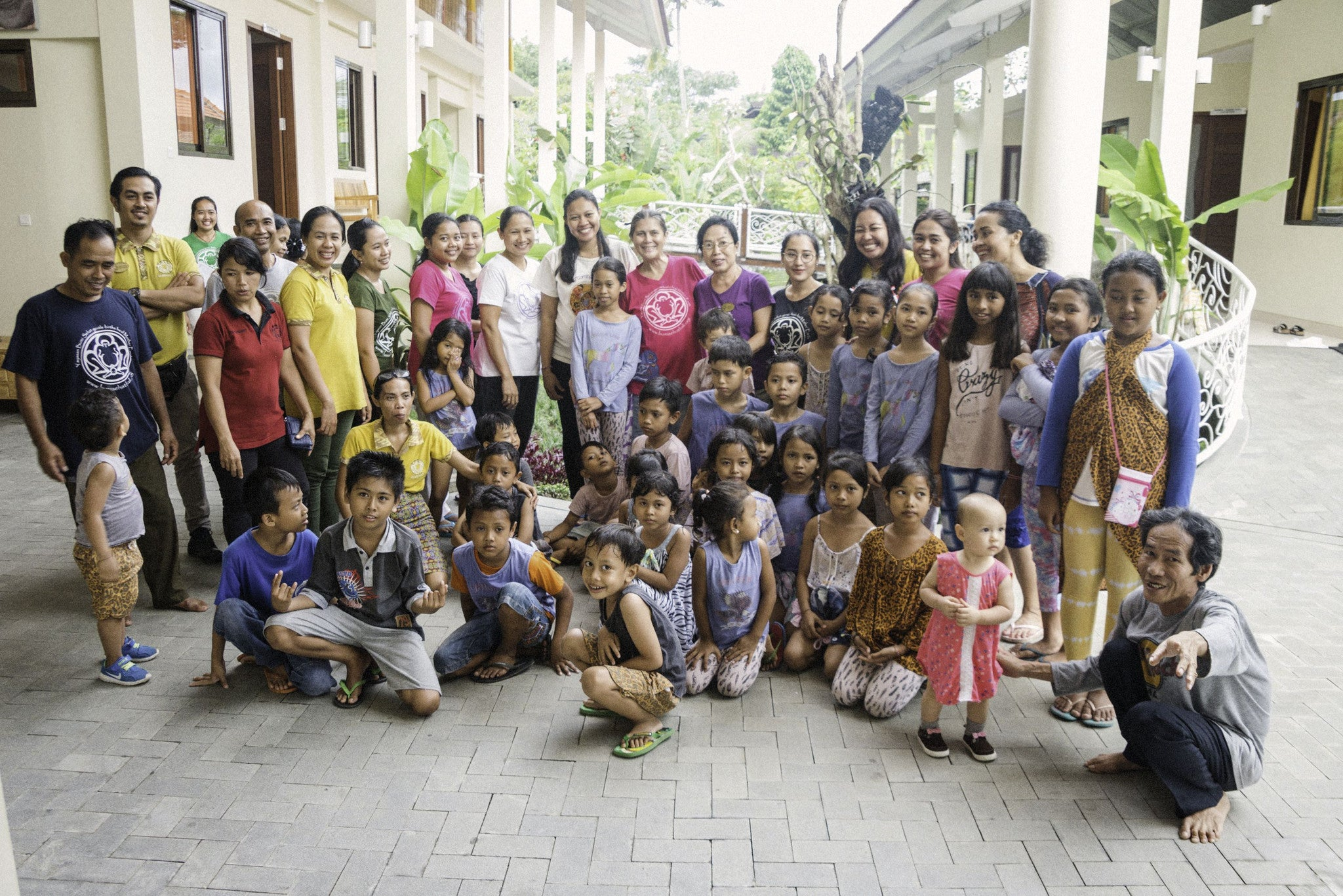 Staff and children at Bumi Sehat Childbirth Centres