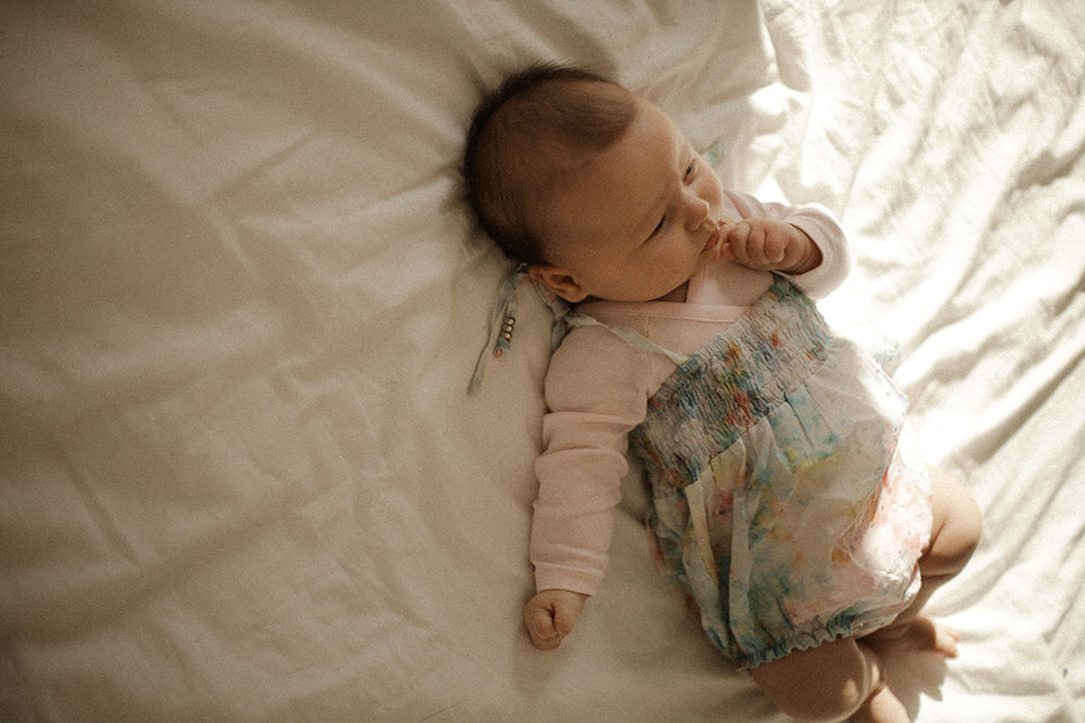 A little Bebe in the Utopia Romper