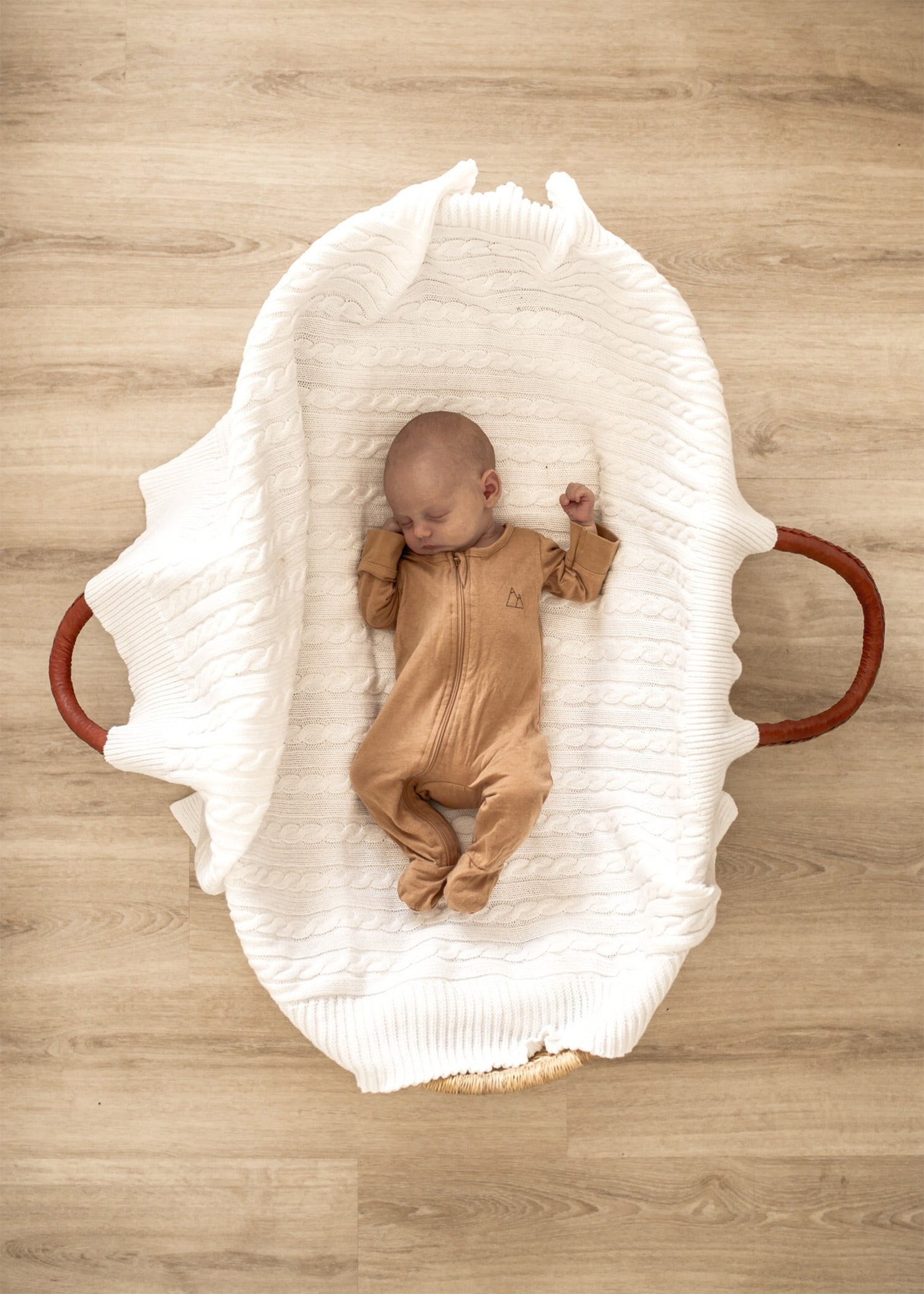 Sleeping Baby wears Bamboo Baby by Children of the Tribe