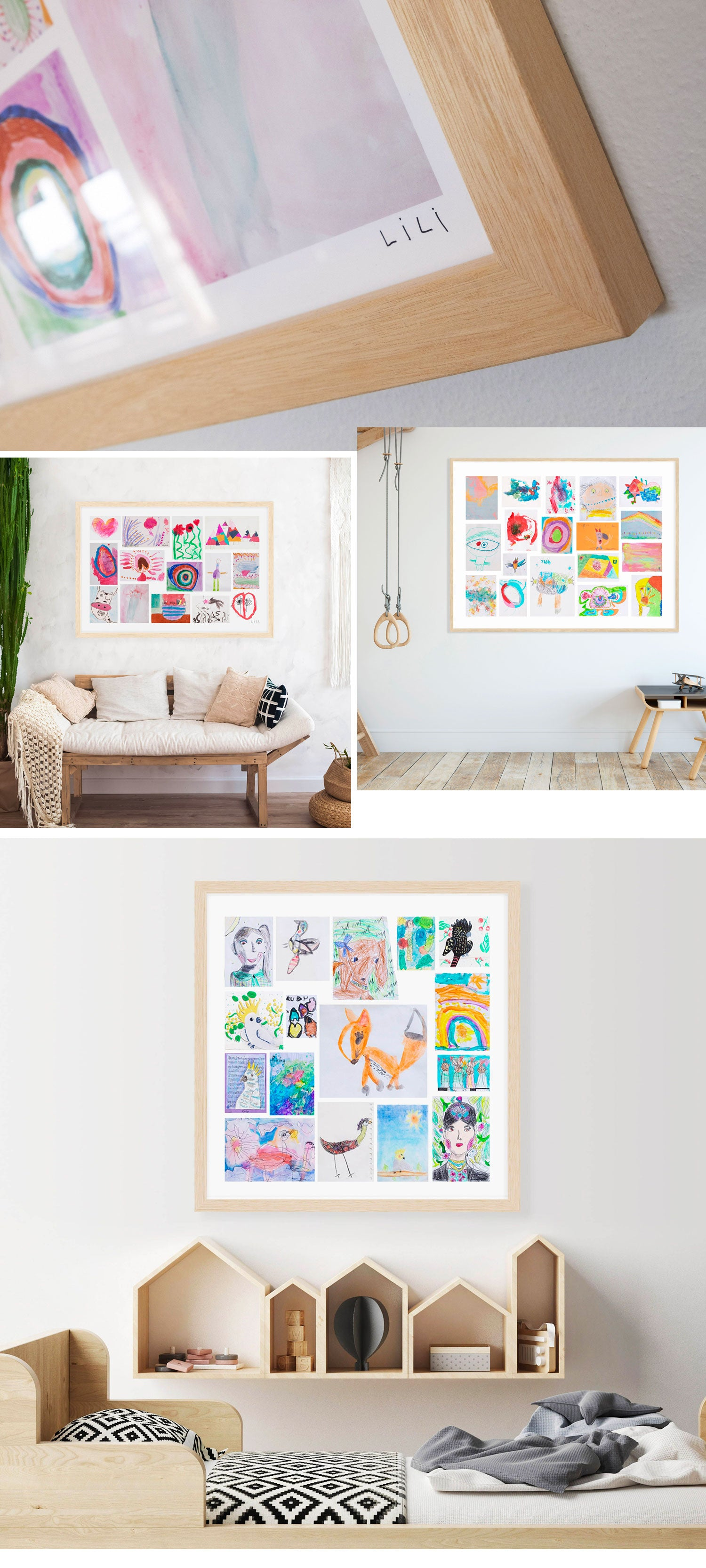 Montage your child's artwork by Little Hangs