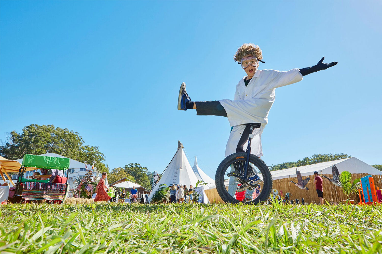 Unicycle at Little Splendour