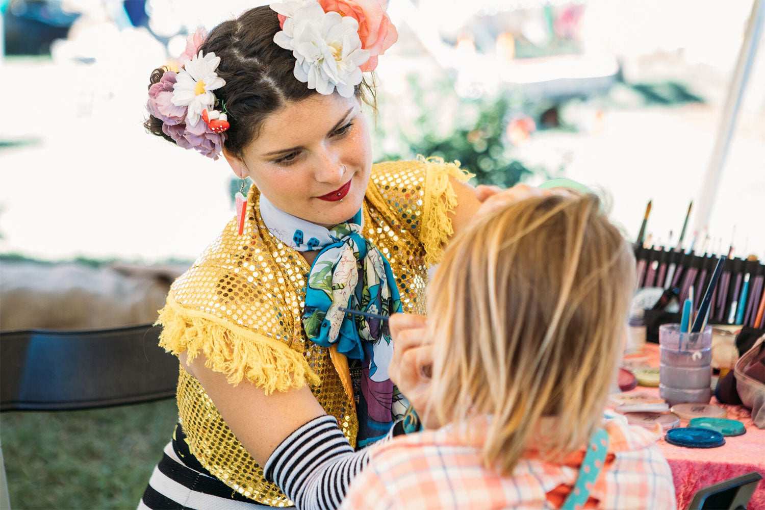 Face painting and glitter galore at Little Splendour