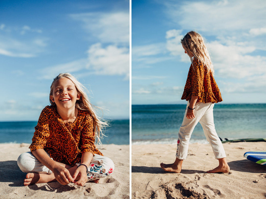 Fun in the sun Jungle Fever blouse and Fiesta Embroidered pants