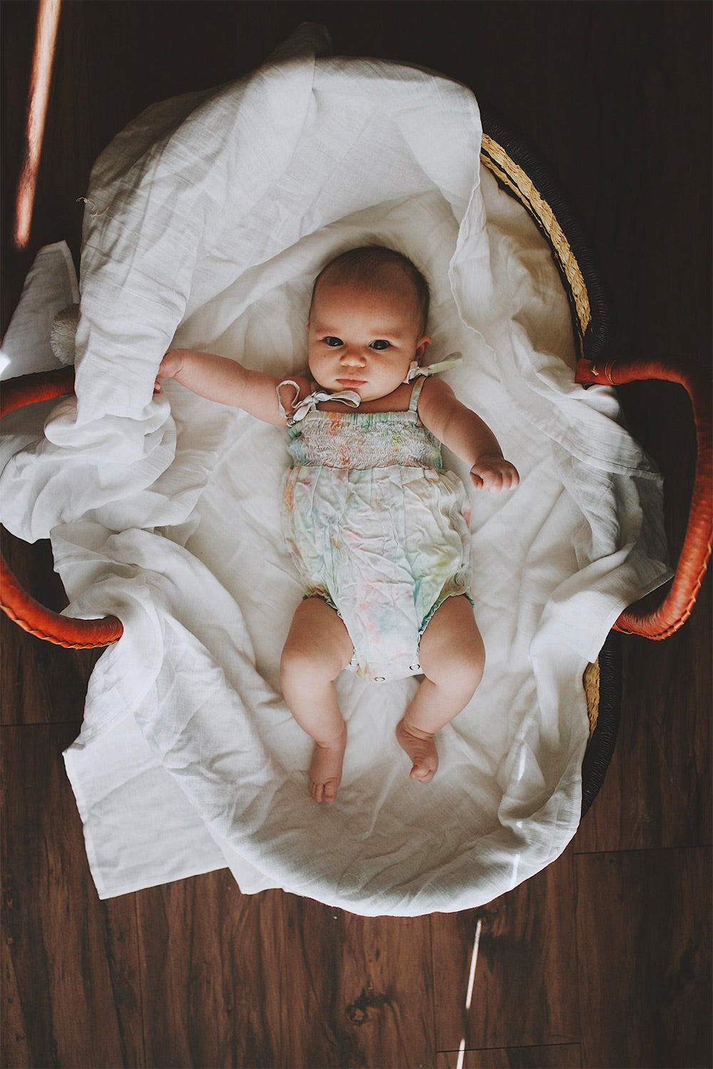 Little baby in Moses Basket