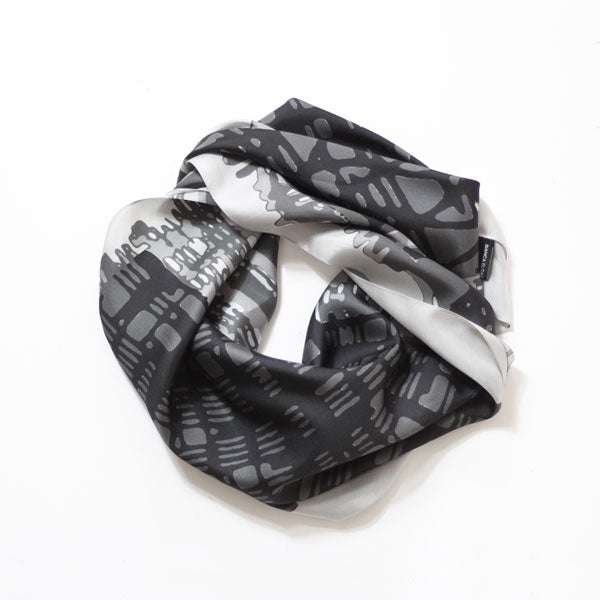 Threads Medium Square Silk Scarf