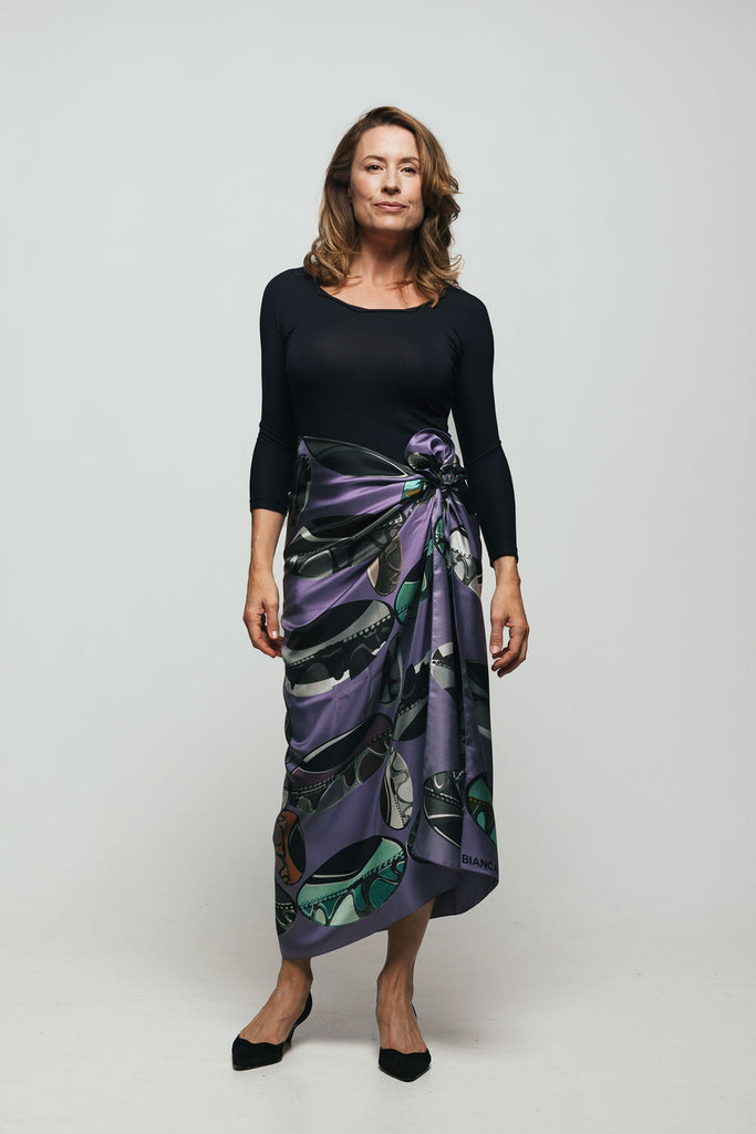 Bianca Elgar Large Silk Square as skirt
