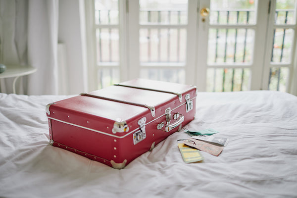 Red suitcase