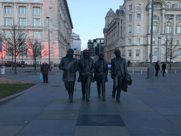 The Beatles sculpture in Liverpool