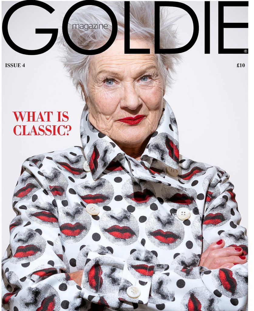 Goldie magazine cover featuring Beate