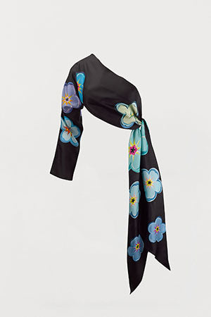 Forget-Me-Not Floral Silk Sleeve Scarf