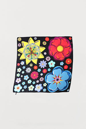 Mixed Flowers Silk Scarf - Medium