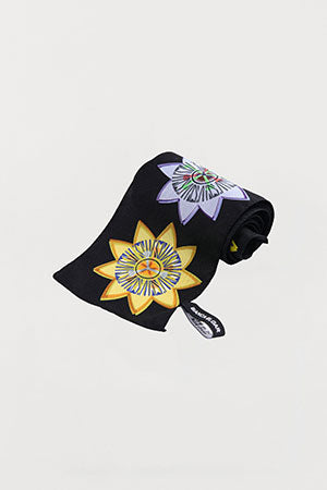 Passion Floral Silk Scarf - Skinny