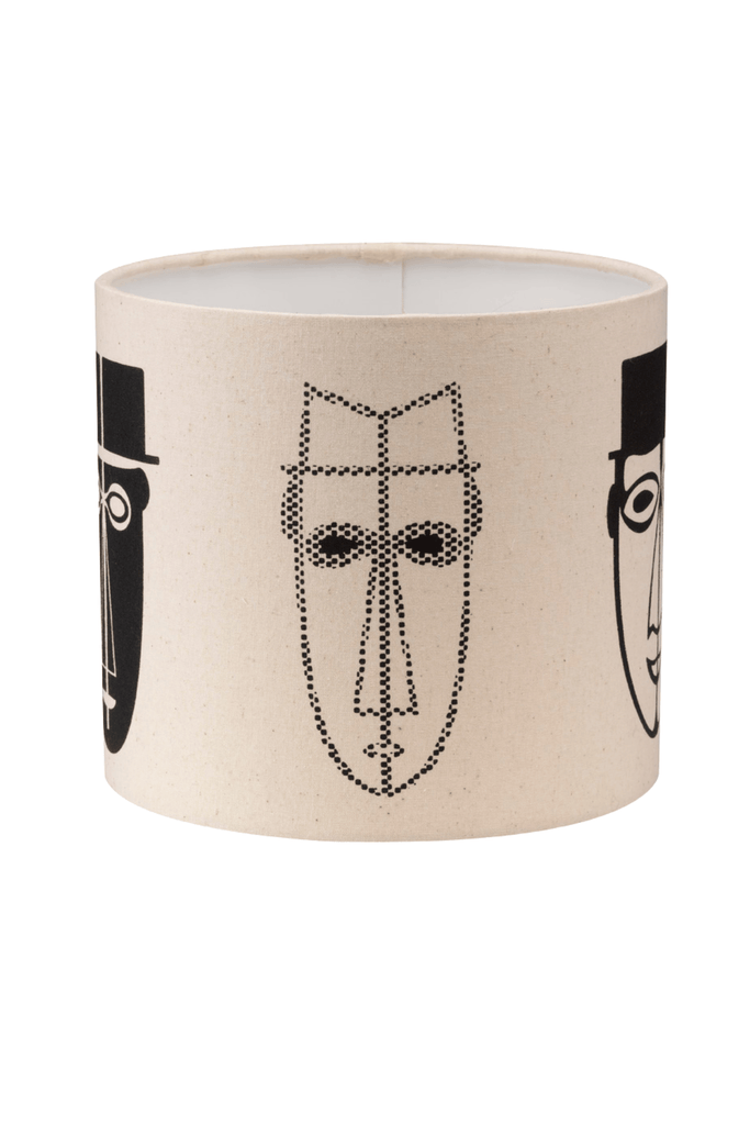 Abstract Male Faces Print Bottle Lampshade 18cm High 6
