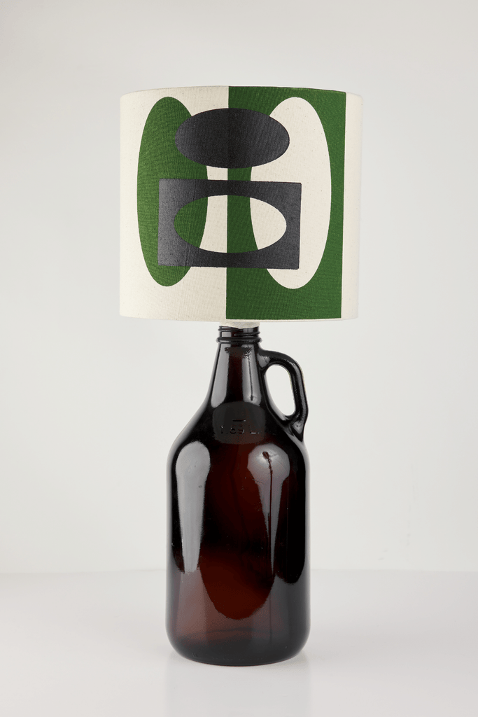 Green and Black Bottle Lampshade |18cm High 1
