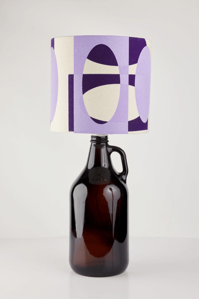 Lilac and Purple Bottle Lampshade | 18cm High 1