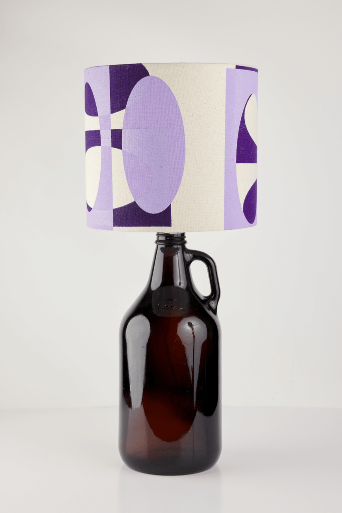 Lilac and Purple Bottle Lampshade | 18cm High 2