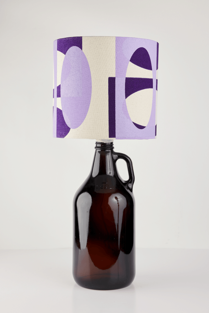 Lilac and Purple Bottle Lampshade | 18cm High 3