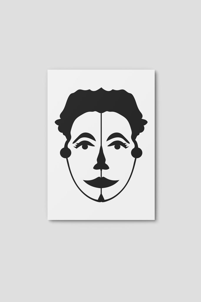 Notecard, Female Face Print1