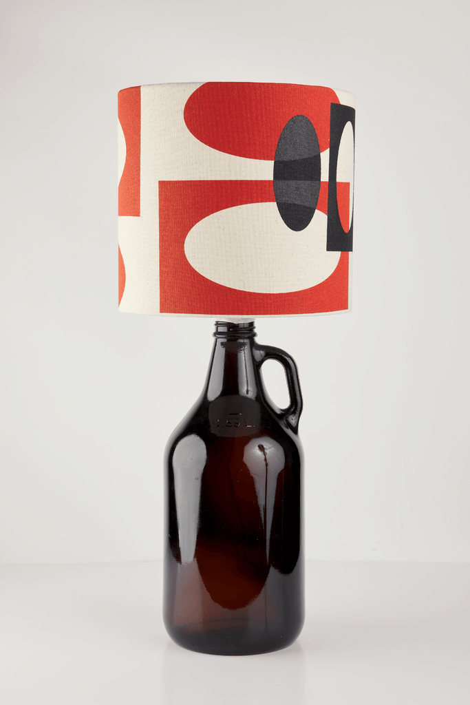 Orange and Black Bottle Lampshade | 18cm High 1