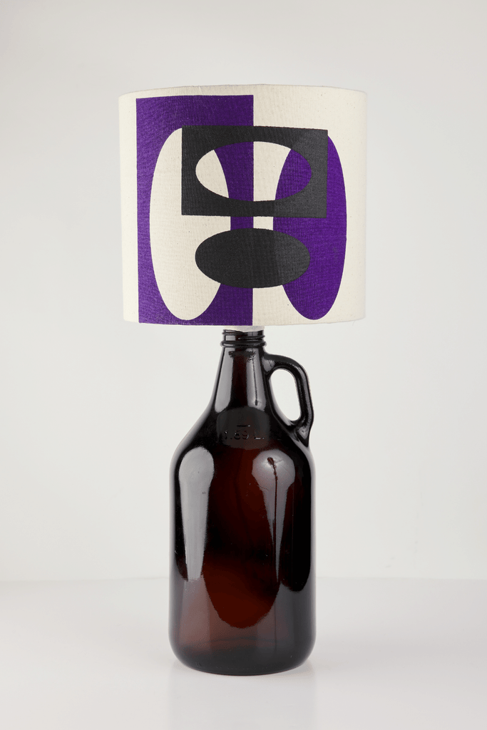 Purple and Black Bottle Lampshade | 18cm High 1