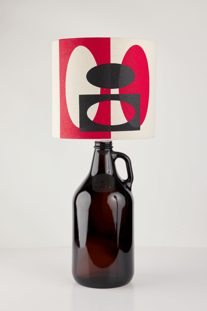 Red and Black Bottle Lampshade | 18 cm High 1