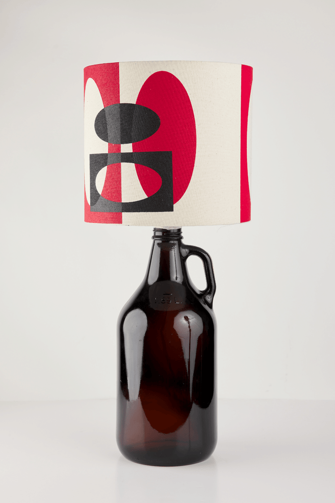 Red and Black Bottle Lampshade | 18 cm High 3