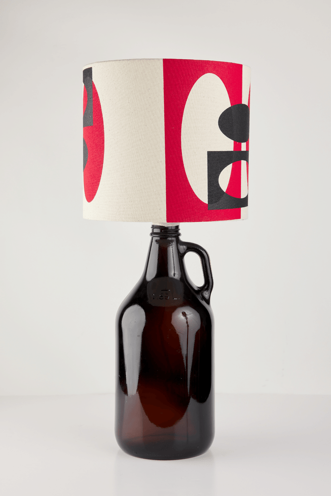 Red and Black Bottle Lampshade | 18 cm High 2