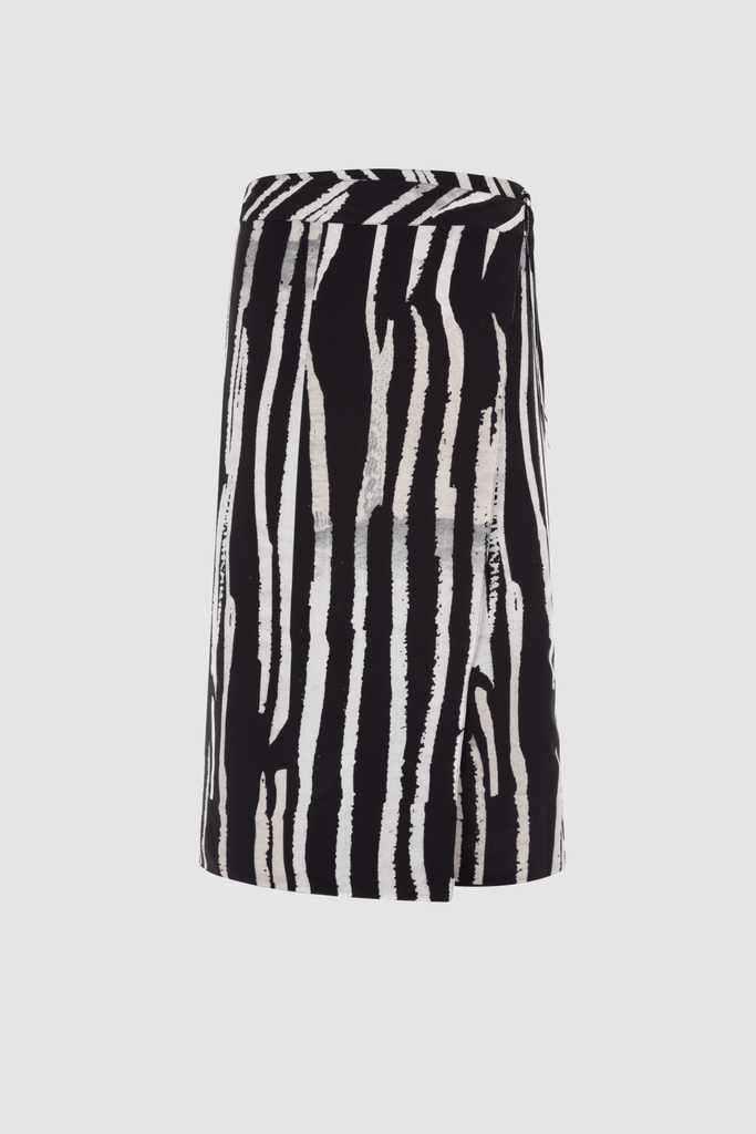 Reversible Wrap Skirt Monochrome Print Product Front
