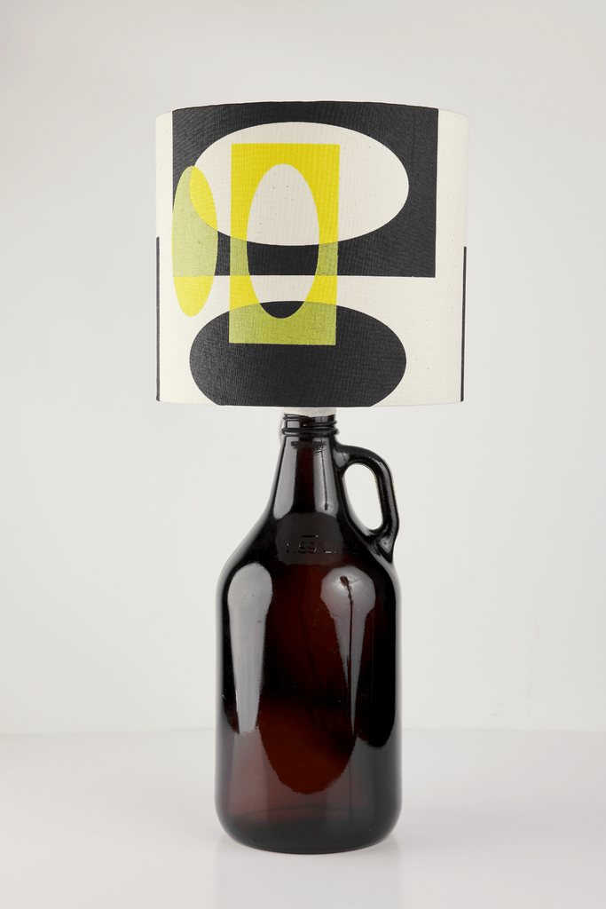 Yellow and Black Bottle Lampshade | 18 cm High 1