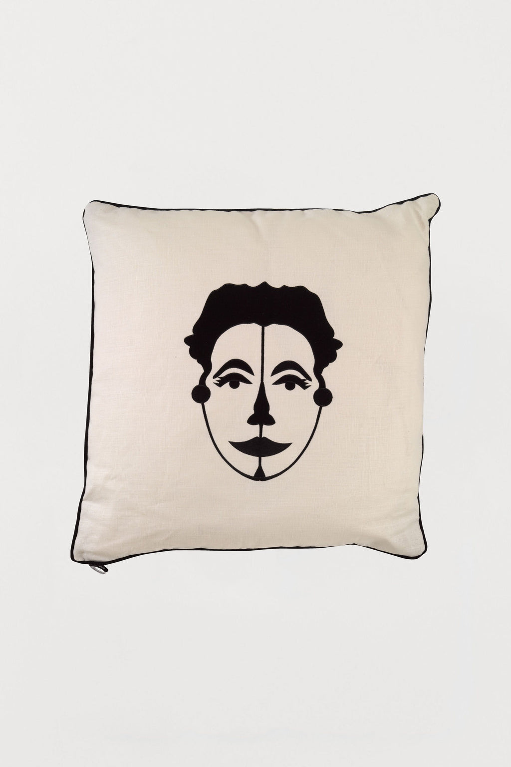 Embroidered Cushion African Mask Woman A - Bianca Elgar