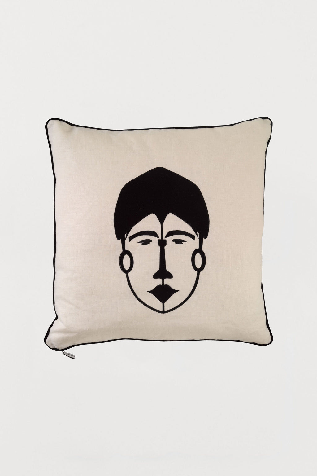 Embroidered Cushion African Mask Woman B - Bianca Elgar
