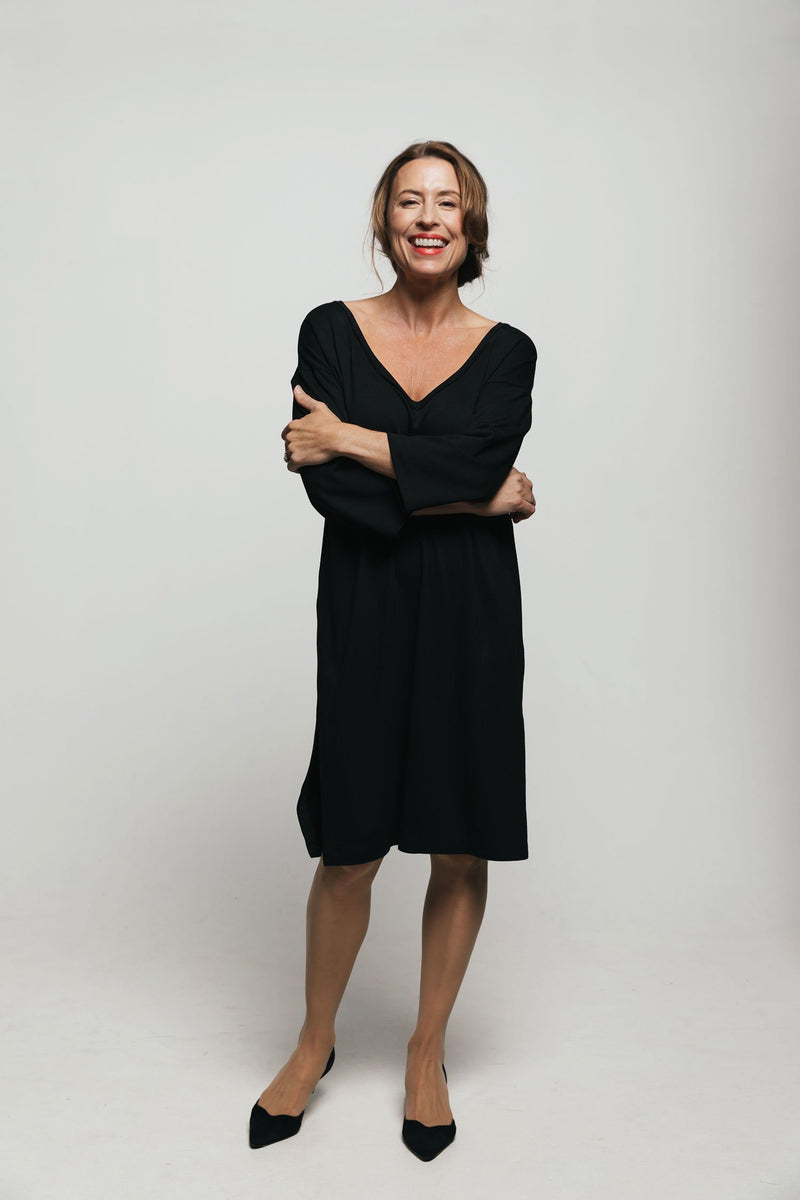 The Ava Black Tunic Dress - Bianca Elgar